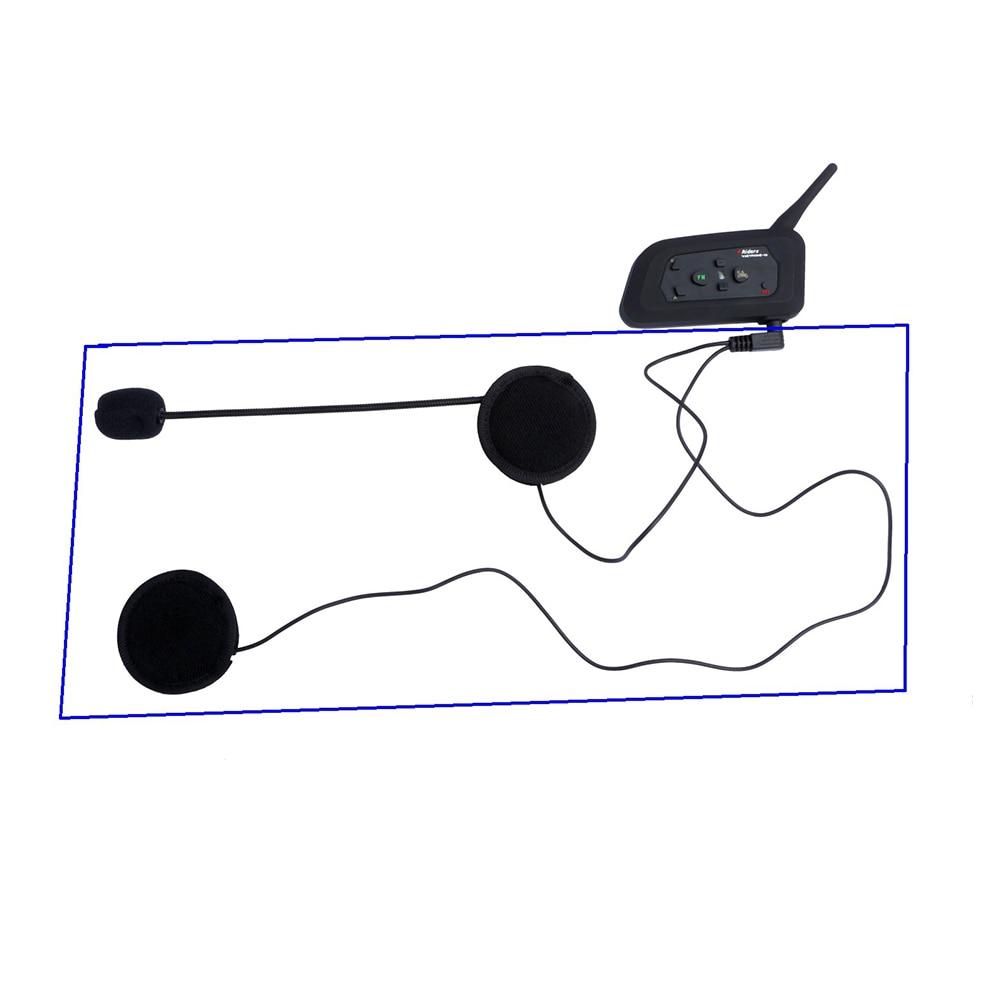 Interphone Headset Wireless Motorcycle Helmet Outdoor Noise Canceling Earphone Bluetooth Intercom Portable Anti-slip For V4 V6