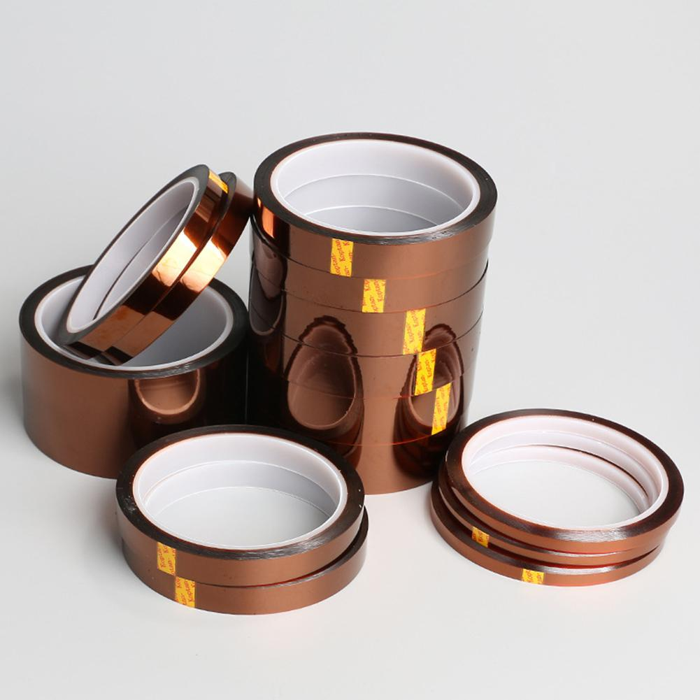 None Temperature Kapton Tape Polyimide Film Tape For Masking 3D Printing Electric Task Soldering 33m