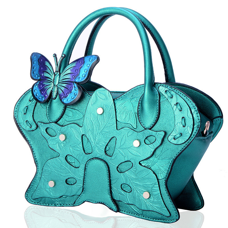 Super seabob 2018 New Pattern Vintage National Zipper High Quality Satchel Coloured Drawing Butterfly Single Package Women DA295