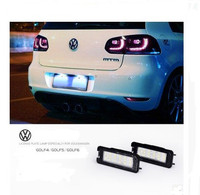 Free Shipping 2pcs LED VW Golf 4 5 6 Polo Scirocco Super Bright Led License Plate