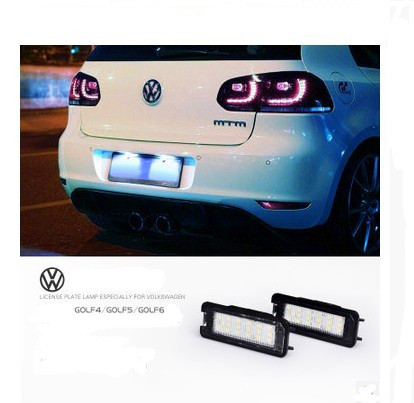 Free shipping,2pcs LED VW Golf 4 5 6 Polo Scirocco