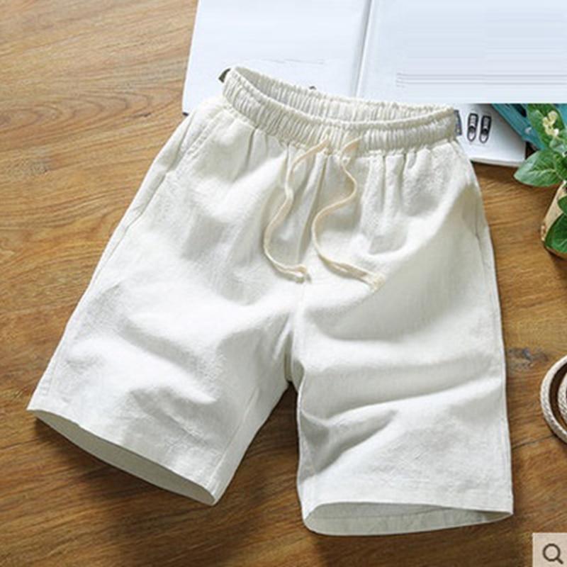 Men's Large Size Shorts XL 6XL 7XL 8XL 9XL 10XL Linen Cotton Summer Casual Stretch Sports White Shorts Retro 50 Loose