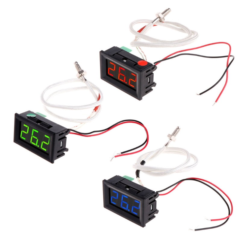 XH-B310 Digital Thermometer 12V Temperature Meter K-type M6 Thermocouple Tester R11 Drop ship 4 channel k type digital thermometer thermocouple sensor 200 1372 degrees industrial thermometer temperature meter