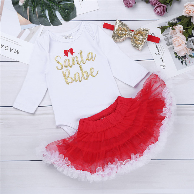 2c75e25475f2 iEFiEL Toddler Newborn Infant Baby Girls First Christmas Romper with ...