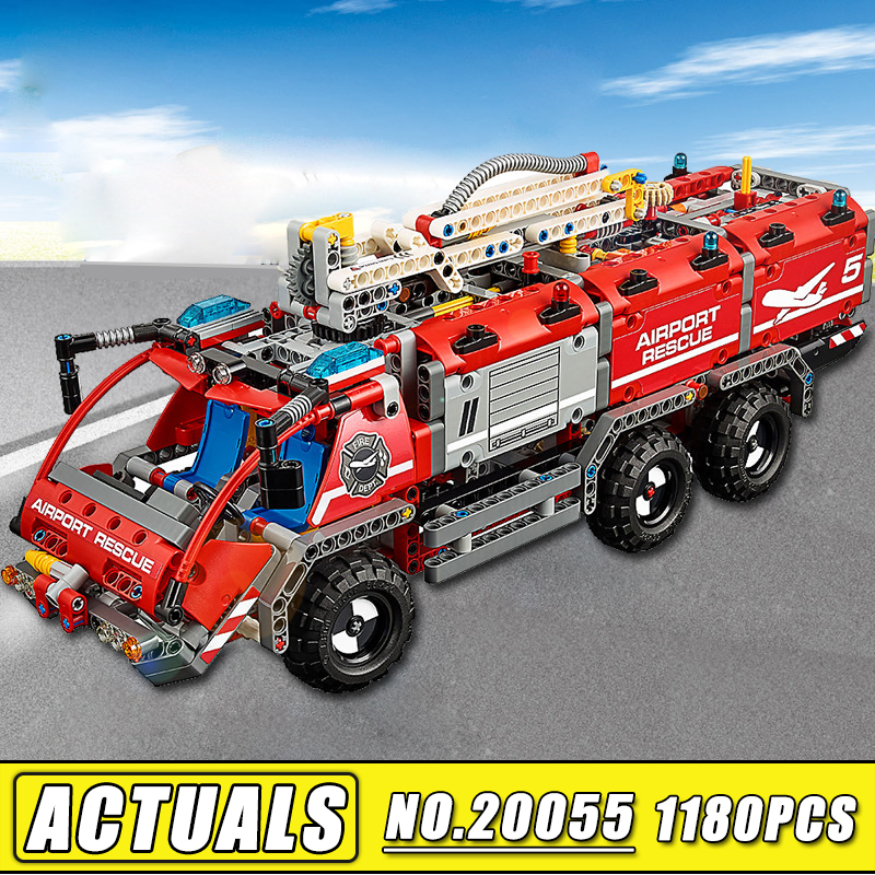 Bei Fen 1180pcs Lepin Technic 20055 City Series Airport Rescue Vehicle Building Blocks Bricks Children Toy compatible 42068 a toy a dream lepin 02043 718pcs building blocks bricks new genuine city series airport terminal toys for children gifts