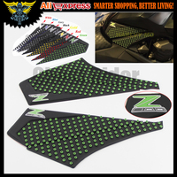 Motorcycle Tank Pad Protector Sticker Decal Gas Knee Grip Tank Traction Pad Side 3M For KAWASAKI