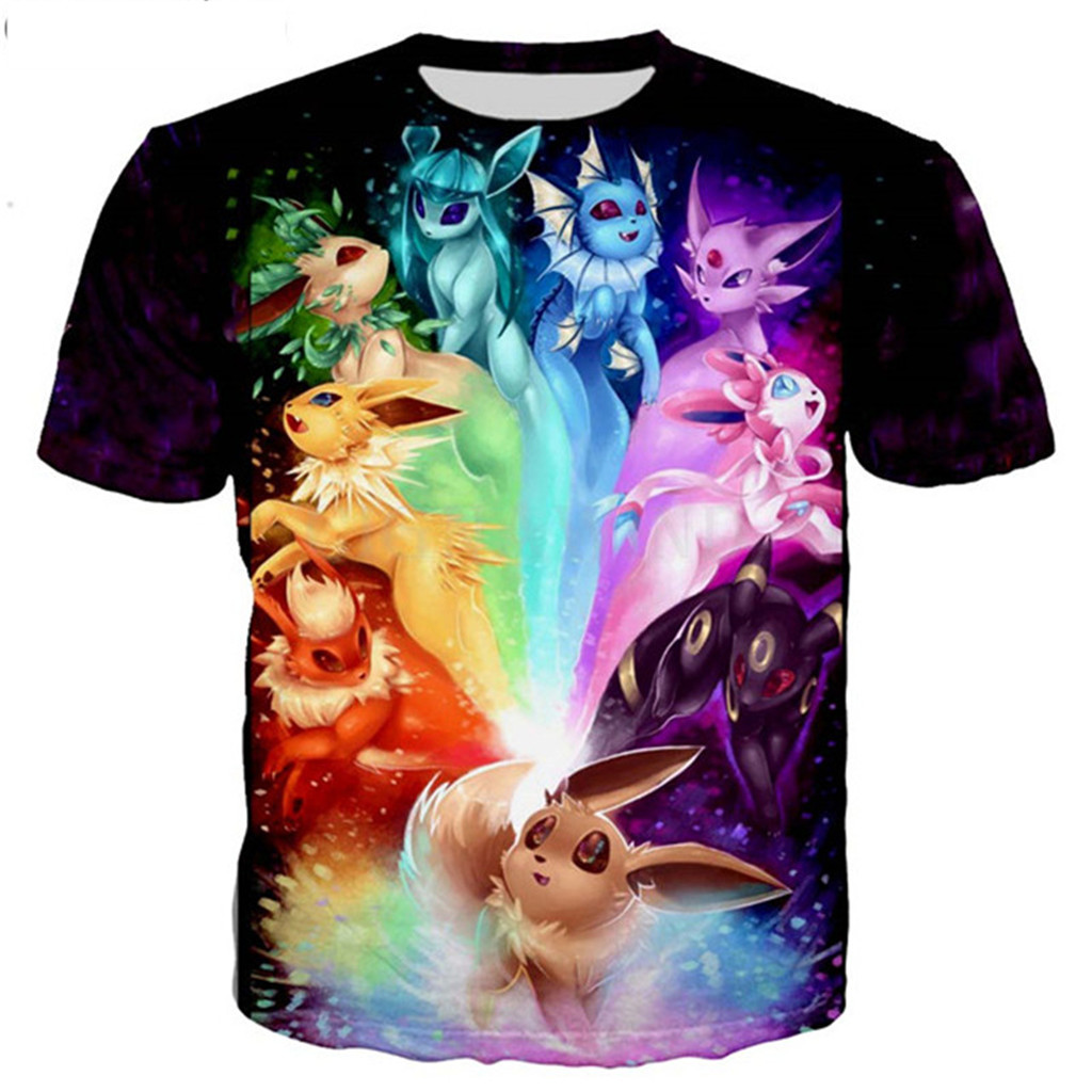 Mewtwo Kaiju Japan Style Pokemon T-Shirt Men/'s Comedy T-Shirt