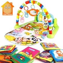3 in 1 Kids Rug Play Mat Develop Crawling Baby Music Mat Wit
