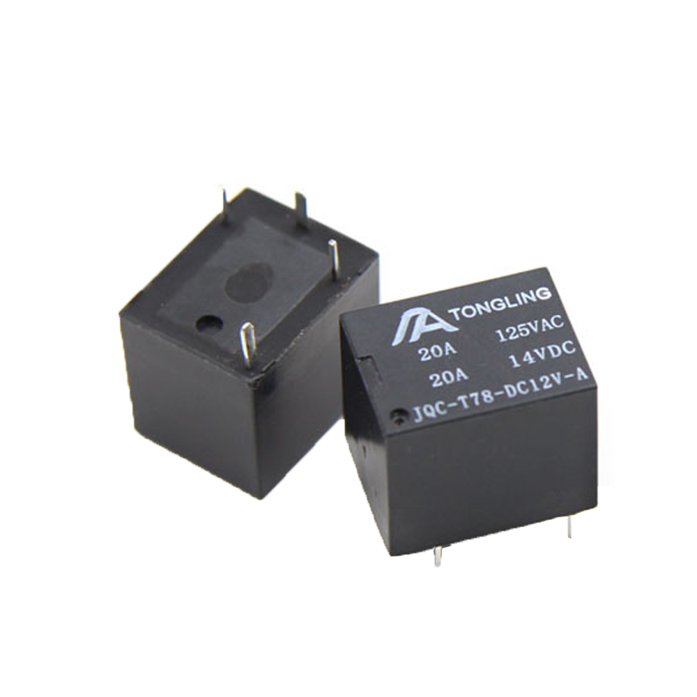 JQC Normally open 4 Pin 12V home appliances car anti-theft 5 feet DC DC12V conversion type <font><b>T78</b></font> small <font><b>relay</b></font> image