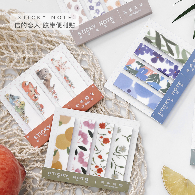 Cute Flower Glass Geometric Frame N Times Sticky Notes Escolar Papelaria School Supply Bookmark Label