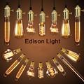 Americano do vintage pendente luzes suporte da lâmpada de cobre luz de tungstênio lâmpada indústria lâmpadas pingente Ouro/Cromo E27 W-filamento lâmpada