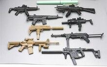 1:6 8 teile/satz 4D 1/6 Gun MP7 UZI MP5 Dolch MP40 Maschinenpistole Carbine Sturmgewehr Montage Modell Spielzeug Für action Figur