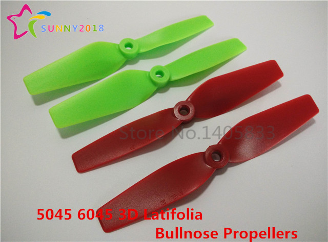 24pcs / 12Pair 5045 <font><b>6045</b></font> 3D Latifolia Bullnose Propellers For FPV Mini QAV250 ZMR 250 270 280 Quadcopter image