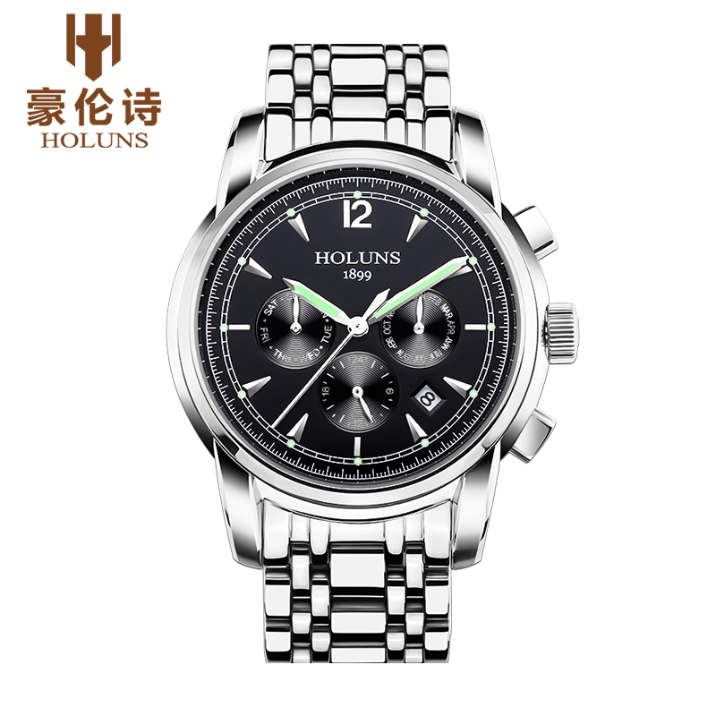 Mens Watches Top Brand Luxury HOLUNS 2017 Men Watch Sport Tourbillon Automatic Mechanical stainless steel Wristwatch relogio mas yixing tea wholesale pu er tea cake 3 mug selection mixed batch number
