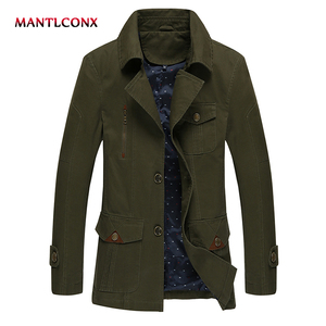 MANTLCONX 2019 Men's New Casual Jacket High Quality Spring Jacket Coat For Men Large Size 4XL Long Coat Men Spring Jackets
