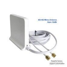 698 2700 Mhz Omni innen Magnetische Basis lte wifi Weiß 2x2 Mimo Antenne 4G