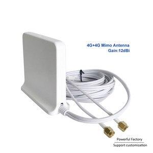 Image 1 - 698 2700 Mhz Omni kapalı Manyetik Baz lte wifi Beyaz 2x2 Mimo Anten 4G