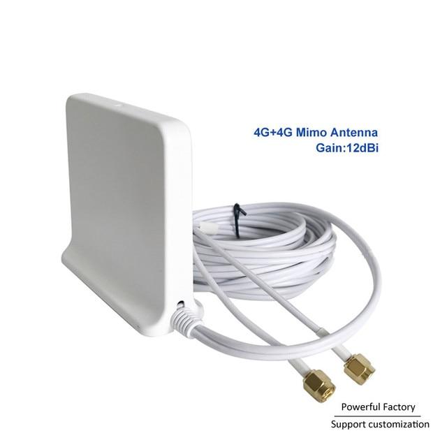 698 2700 Mhz Omni kapalı Manyetik Baz lte wifi Beyaz 2x2 Mimo Anten 4G