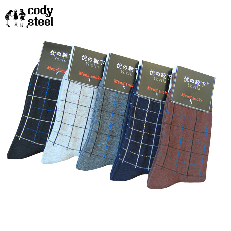 Cody Steel Casual Socks Cotton Men Fashion Lattice Winter Socks Male Brand All-match Happy Socks Men 10pairs/lot Underwear & Sleepwears