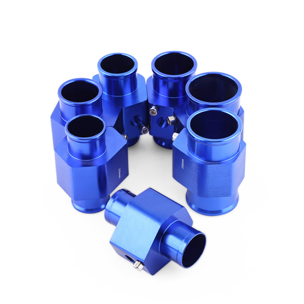 26/28/30/32/34/38/40mm Universal Metal Auto Car Water Temp Joint Pipe Hose Temperature Sensor Adapter Blue