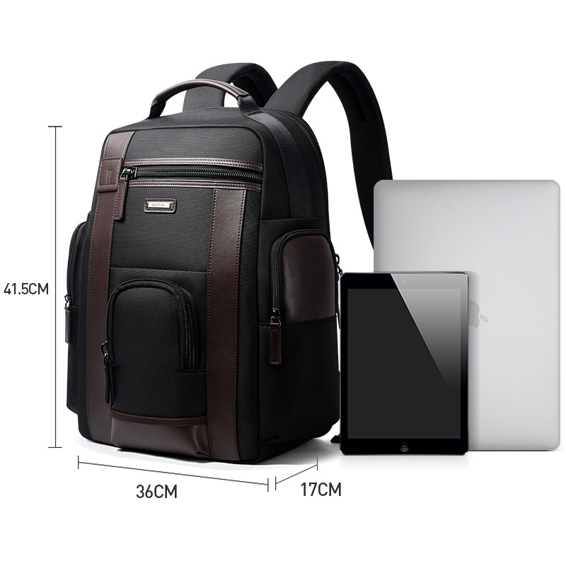 Bopai New Black Multi Pocket Men Backpack Business Solid Nylon Men Daypacks Mochila Bags Convenient Usb Charging Backpack Women #6