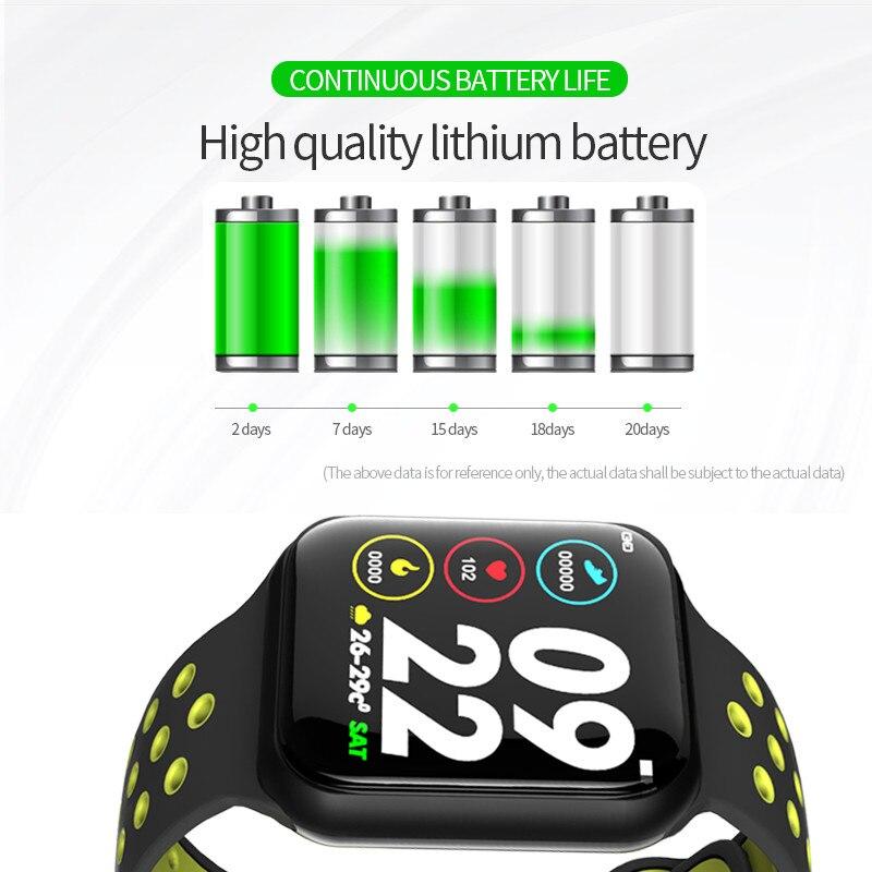 Image 4 - Wearpai f8 relógio inteligente homem pressão arterial à prova  dwaterproof água smartwatch feminino monitor de freqüência cardíaca  fitness rastreador relógio esporte para androidPulseiras inteligentes