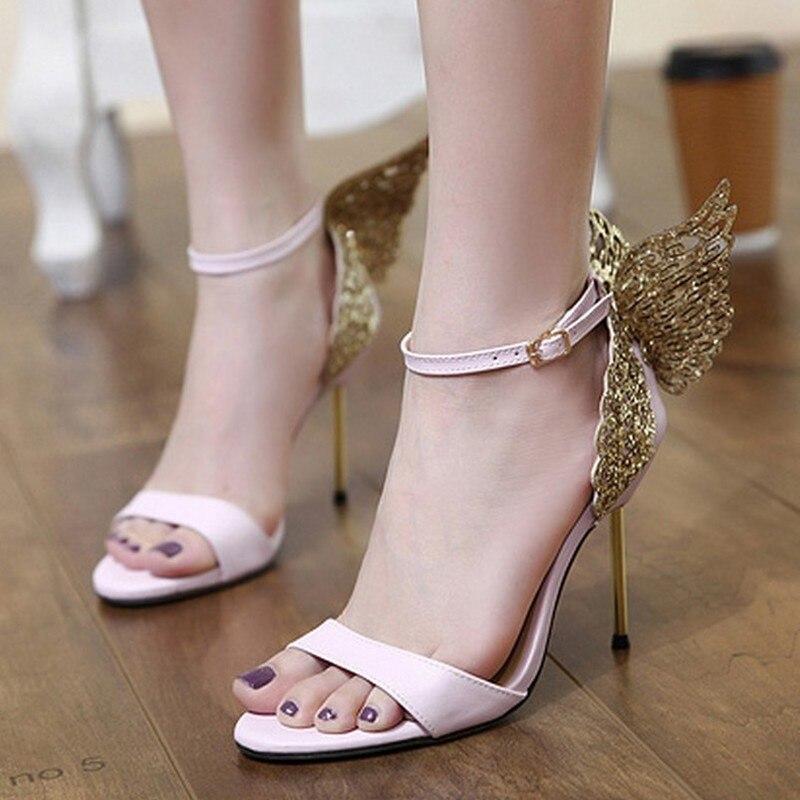 Summer Women Sandals PU Buckle Strap Thin Heels 10CM Butterfly knot High Heels Pumps Lady Sandal woman Shoes|High Heels| |  - AliExpress