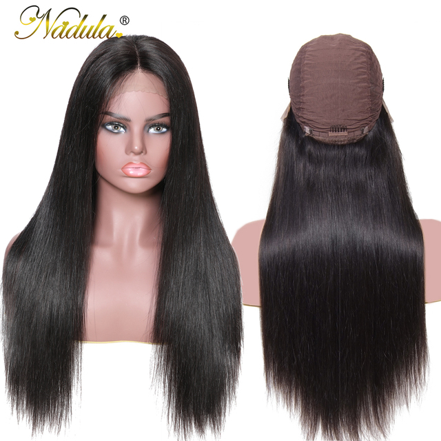 Nadula Hair 13*4/6 Lace Front Human Hair Wigs Pre Plucked Brazilian Remy Hair Lace Wig Straight Lace Front Wigs Natural Color 1