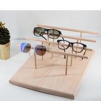 Solid Wood Sunglass Display Holder Glass Display Stand