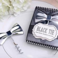 Свадебный подарок и раздаточный материал для гостей- «черный галстук» открывалка для вина творческие подарки свадебные подарки красное вино пробковая отвертка 1 шт./партия