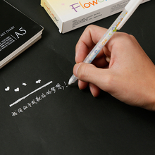 White Ink Color Photo Album 0.8MM Gel Pen Highlighter Cute Unisex Pen Gift For Kids Stationery Office Learning School Supplies office stationery 312g unisex pen erasable pen unisex 0 5 gel pen 2 color choose learning essential free shipping