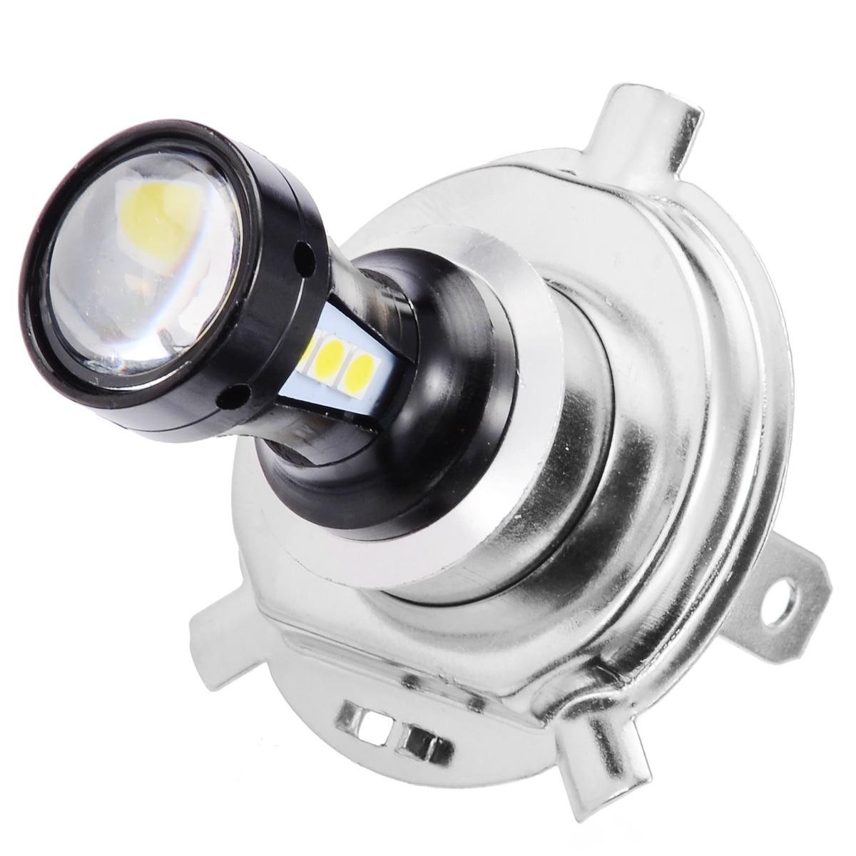 Mayitr 1PC H4 Universal 6500K Motorcycle Headlight Head Light Lamp 3030 LED Bulb Hi-Lo Beam Wireless Direct Install For Yamaha