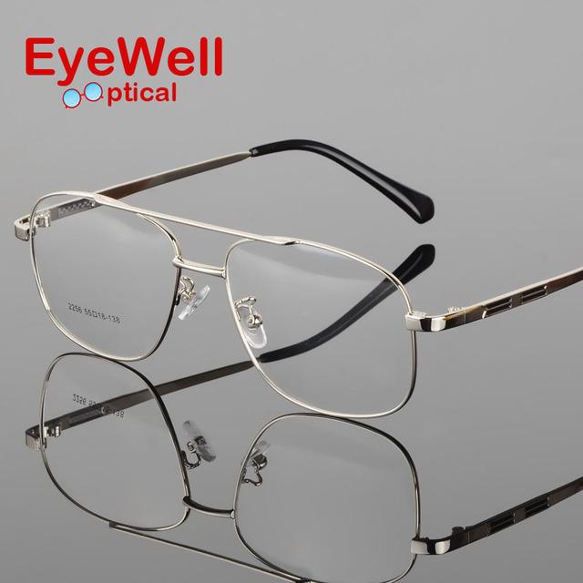 Retro de metal caixa grande sapo rodada óculos de armação armação miopia masculino seção luz espelho arte Fan Chao masculino frame ótico S2256
