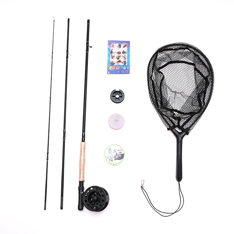 Beginner Hot sell 2.7m 5/6# fly fishing rods set plastic fly reels with line lure 6 kinds fly fishing tackle Super Set suit kit fly–fishing with children – a guide for parents page 6