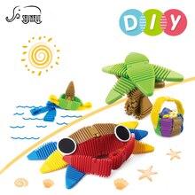 22 Pcs DIY Mini Designer de Tiras Crianças Brinquedo Modelo de Construção de Plástico Blocos de Construção Magnético Brinquedos Educativos Presente Para As Crianças