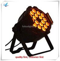 8 יחידות באיכות גבוהה בסין משלוח חינם 18x18 w תאורת led מנורת uv par64 rgbwa