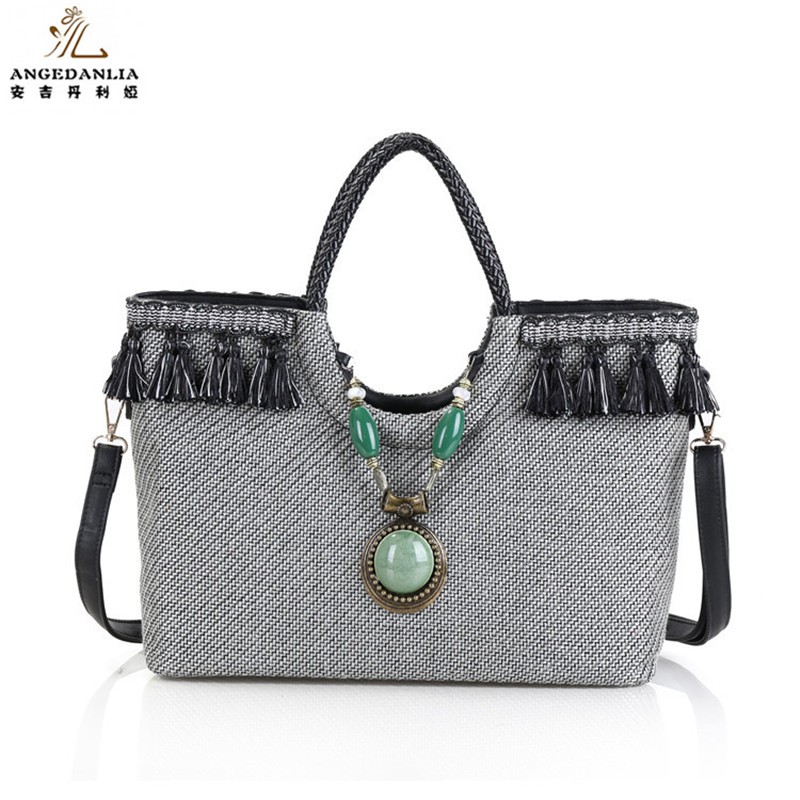 Bohemian embroidered straw large gray handbag Hippie Gypsy Women Tote Bags BOHO Ethnic Bag shoulder Bag crossbody bags bolsos ethnic embroidered black cami dress for women