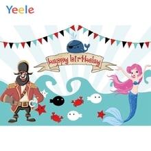 Yeele Mermaid Seabed Fish Pirate Children Birthday Party Photography Backdrop Custom Photographic Background For Photo Studio