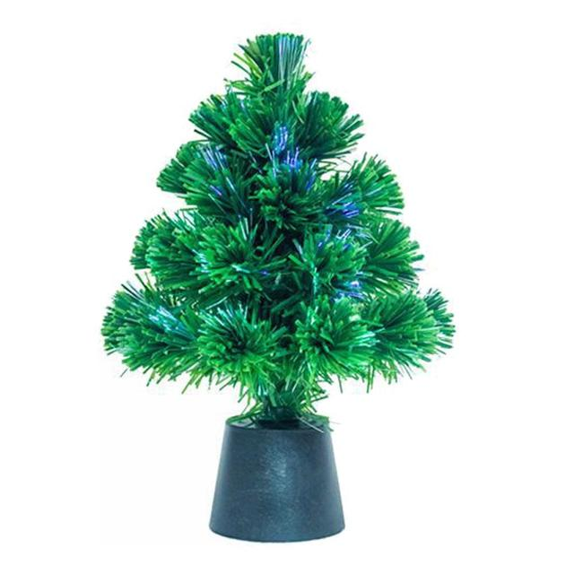 Mini Usb Fiber Optic Artificial Christmas Trees Small Simulation Plant Flower Accessories Pvc Tree