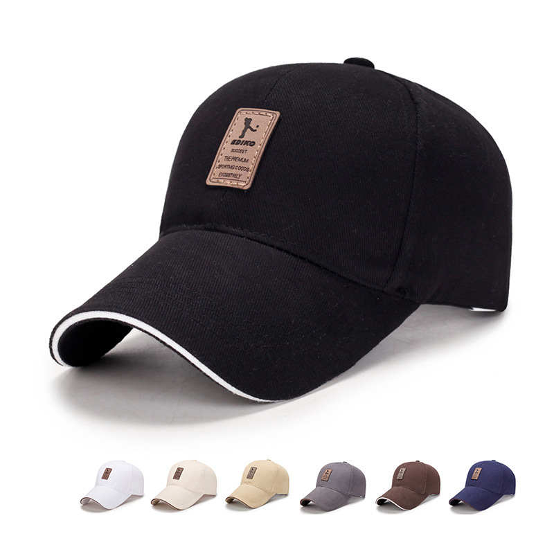 2019 New Simple Business Baseball Cap Men's Outdoor Sun Caps 100%Cotton Casual Hat Golf Hats