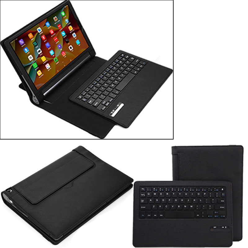 Tablet Case Business Portable Bluetooth Keyboard with PU Leather Case Cover For Lenovo Yoga Tab 3 plus 10.1inch