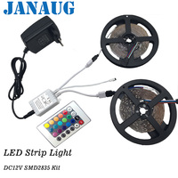 10 meter led strip lights 3528SMD diode ribbon tape nonwaterproof 60leds/m+24Key remote controller+DC12V 3A Adapter Power Supply