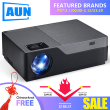 AUN Full HD Projector, 1920×1080 Resolution. LED Projector Support AC3. Home Theater. 5500 Lumens. (Optional Android WIFI) M18