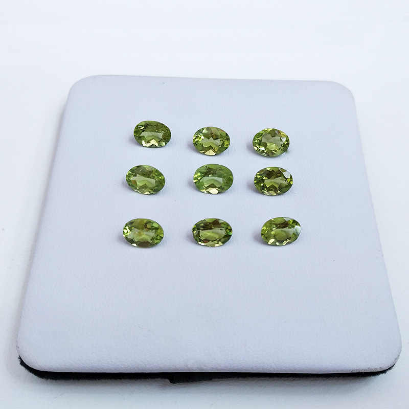 Wong deszczu 1 sztuk naturalne 3*4 MM owalny krój naturalny Peridot luźne kamienie szlachetne DIY kamienie dekoracji biżuteria hurtowych luzem