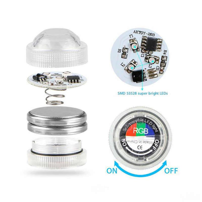 Светодиодный Дистанционное управление фонарь для подводного освещения бассейнов IP67 Водонепроницаемый RGB Батарея приведенный в действие погружная ваза украшения аксессуары для бассейна