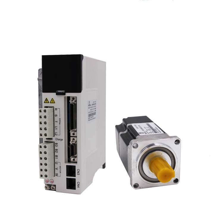 NEMA24 60mm 0.64Nm 3000rpm 200w servo motor driver kit with 20Bit Absolute Encoder and 3M Cable JASD2002-20B+60JASM5022K-20B