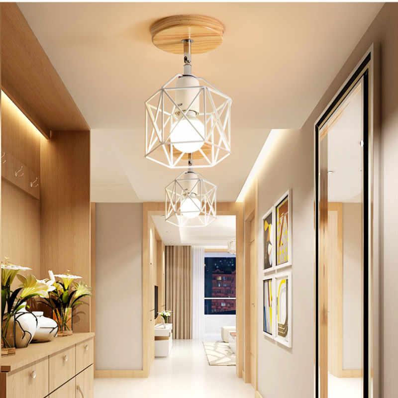 Прикрепляемый к потолку огни Винтаж индустриальный Лофт светодиодные потолочные лампы для домашнего освещения лампы Гостиная E27 Освещение в помещении приспособление