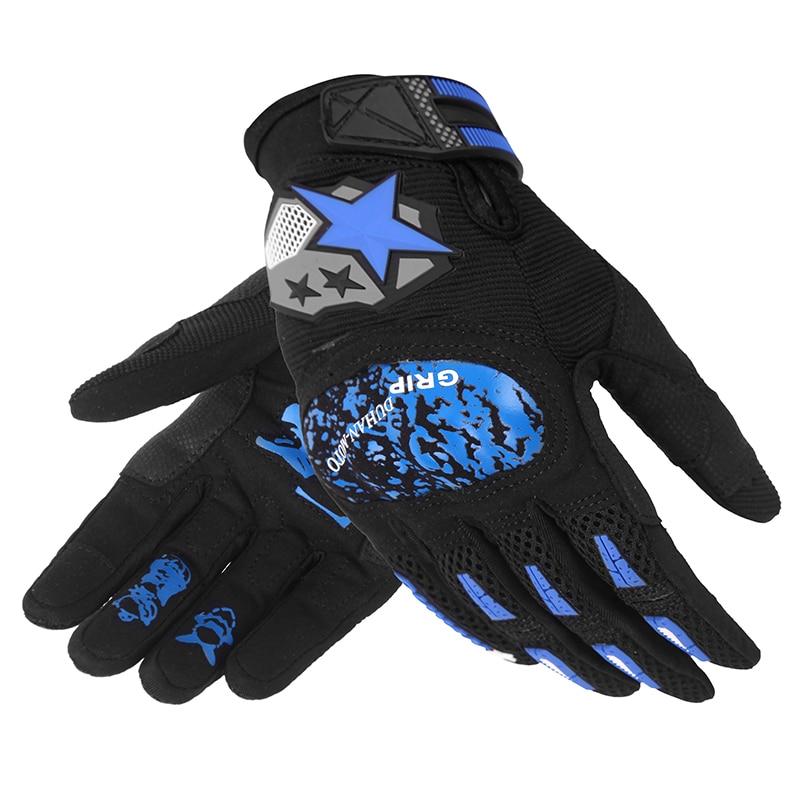 Duhan Motorcycle Gloves Goat Leather Men Tactical Gloves Full fingers racing gloves DS76