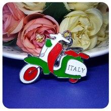 GRANDBLING Italy Theme Motorcycle Keychain Fashion Gift