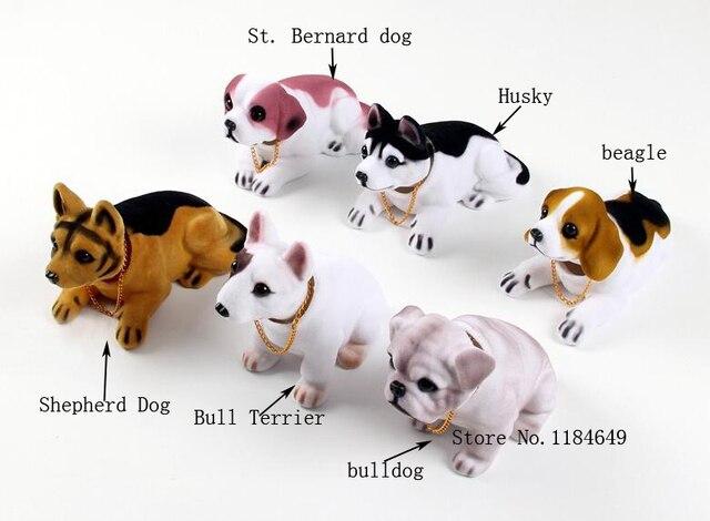 Car Styling New Cute Bobblehead Dog Doll Car Nodding Dog Shakes His Head Shaking Dog For Car Decoration Furnishing Articles
